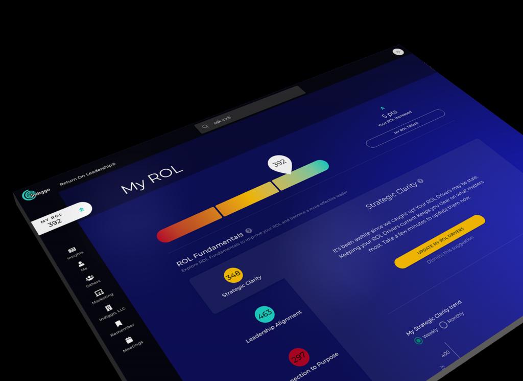 Indiggo platform home page