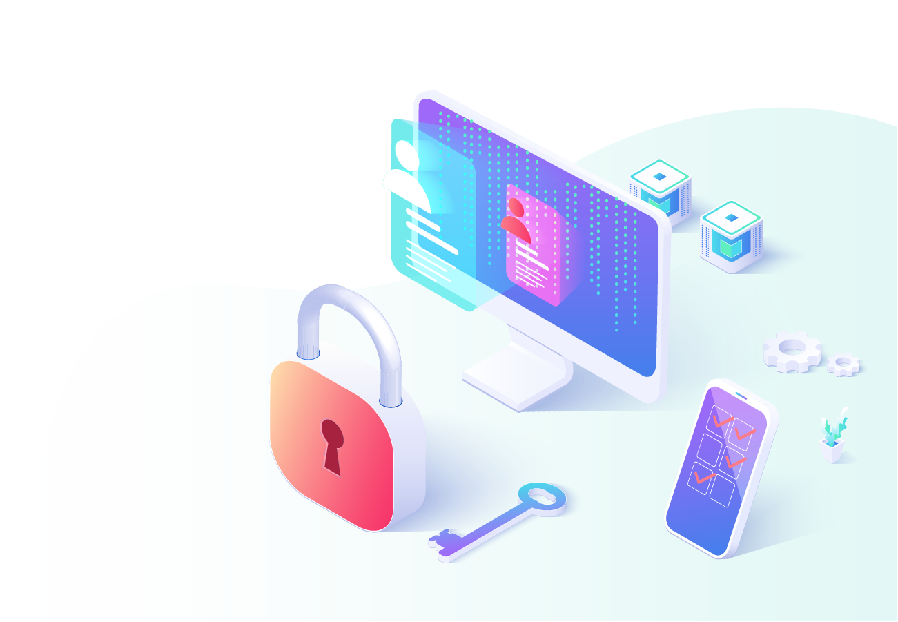 Illustration showing data security